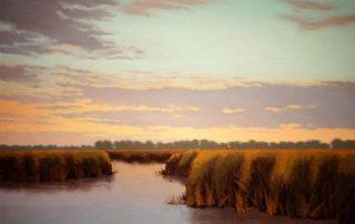 Prairie Marsh Sunrise by Richard Krogstad