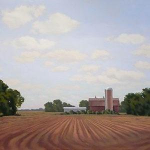 Far View With Barn by Richard Krogstad